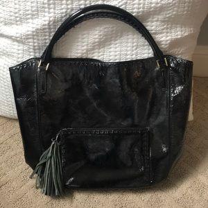 Black Patent hobo bag
